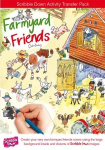 Scribble down farmyard friends front cover